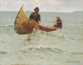 Hauling the Gill Net 1905 By Frederic Remington