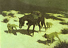 The Last March 1906 By Frederic Remington