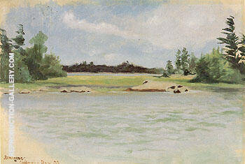 Chippewa Bay 1888 By Frederic Remington
