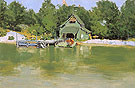 Boat House at Ingleneuk ca 1903 By Frederic Remington