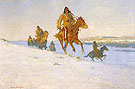 The Snow Trail 1908 By Frederic Remington