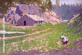 Squatter Cabin 1908 By Frederic Remington