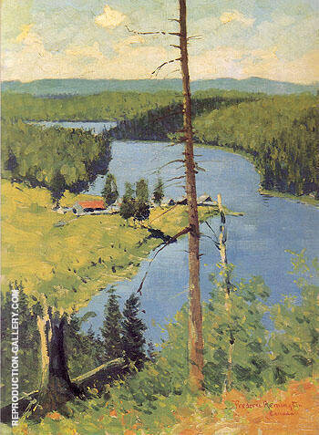 The Moose Country 1909 Painting By Frederic Remington