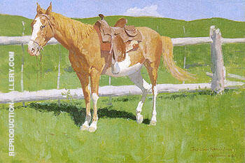 Reproduction of Sorrel Horse Study 1899 by Frederic Remington | Oil Painting Replica On CanvasReproduction Gallery