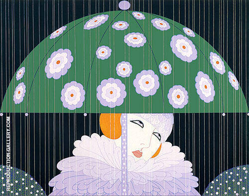 Erte Spring Showers By Erte