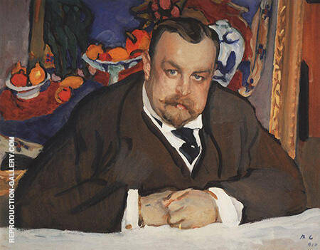 Portrait of Ivan Morozov By Paul Cezanne