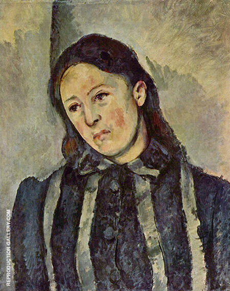 Portrait of Madame Cezanne 1883 By Paul Cezanne