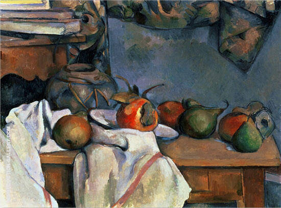 Still Life with a Ginger Pot By Paul Cezanne