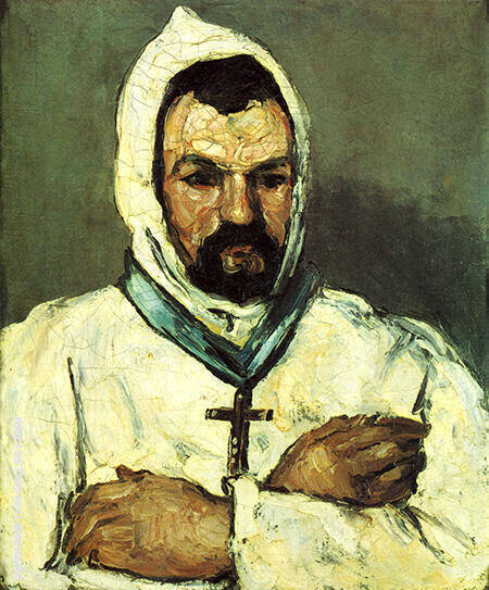 Uncle Dominic as a Monk c 1865 By Paul Cezanne Replica Paintings on Canvas - Reproduction Gallery