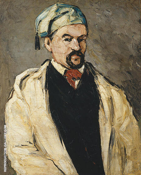 Man in a Cotton Hat Uncle Dominic 1865 By Paul Cezanne Replica Paintings on Canvas - Reproduction Gallery