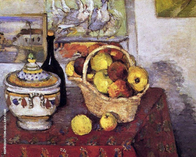 Still Life with a Soup Tureen c1877 By Paul Cezanne