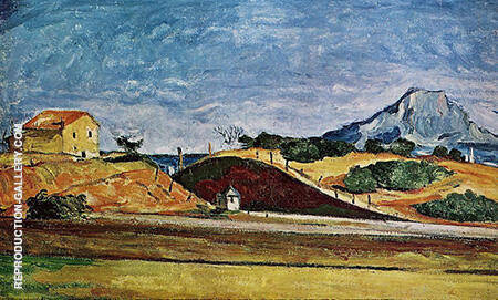 The Railway Cutting 1870 By Paul Cezanne Replica Paintings on Canvas - Reproduction Gallery