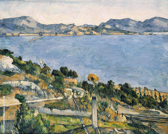 Bay of Marseilles From L'Estaque 1878 By Paul Cezanne