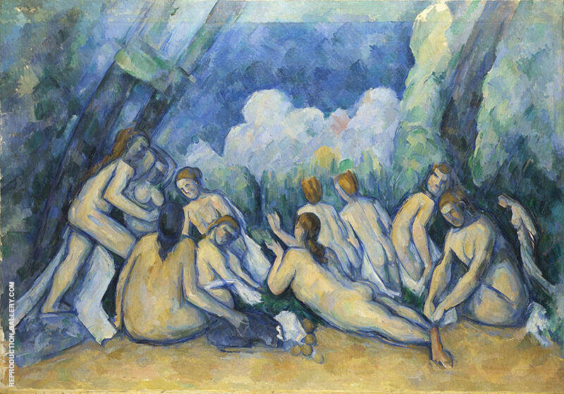The Large Bathers c1900 (Les Grandes Baigneuses) Painting By Paul Cezanne