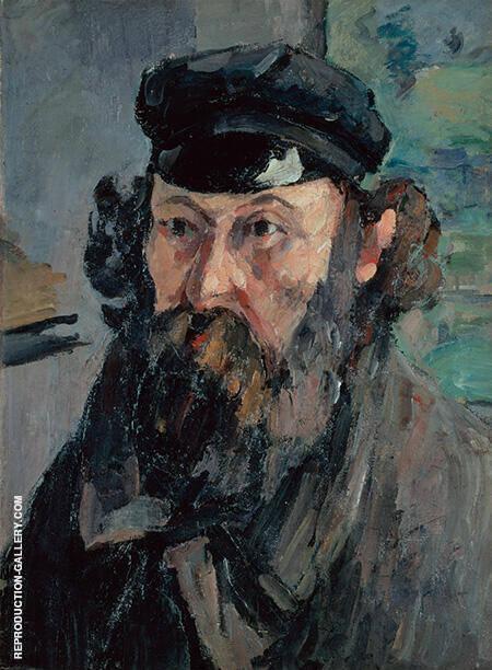 Self Portrait in a Casquette By Paul Cezanne