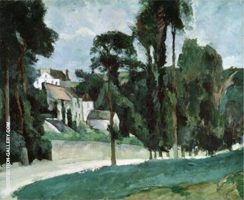Road at Pontoise 1875 By Paul Cezanne