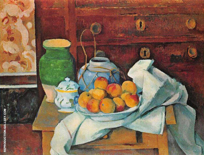 Still Life with a Chest of Drawers 1883 Painting By Paul Cezanne