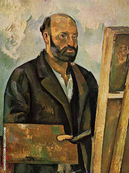 Self Portrait with Palette 1890 By Paul Cezanne Replica Paintings on Canvas - Reproduction Gallery