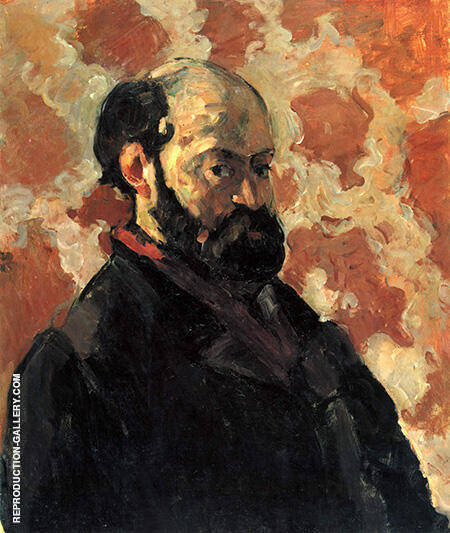 Reproduction of Self Portrait with a Pink Background by Paul Cezanne | Oil Painting Replica On CanvasReproduction Gallery