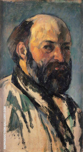 Self Portrait 1880 By Paul Cezanne Replica Paintings on Canvas - Reproduction Gallery
