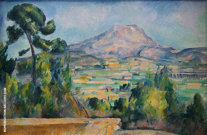 Mont Sainte Victoire 1883 Painting By Paul Cezanne - Reproduction Gallery