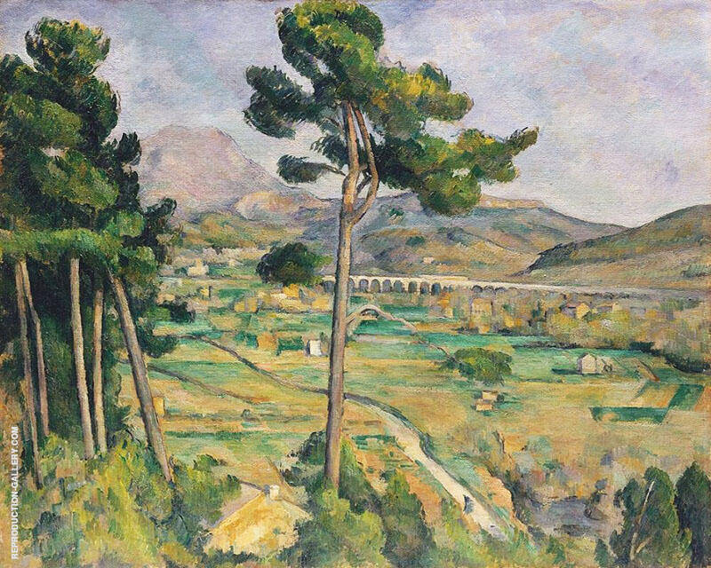 Mont Sainte Victoire View from Bellevue 1882 Painting By Paul Cezanne