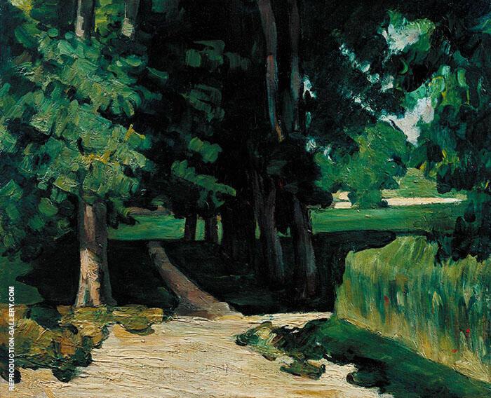 Path in Jas de Bouffan c1869 By Paul Cezanne