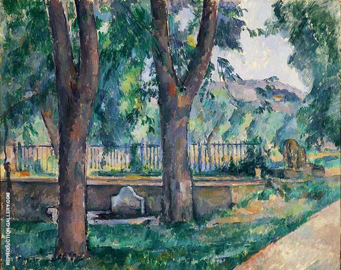 Bassin in Jas de Buffan 1880 By Paul Cezanne