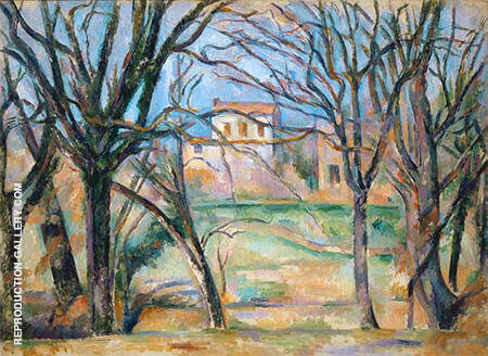 Path of Chestnut Trees in Jas de Buffan in the Winter 1885 By Paul Cezanne - Oil Paintings & Art Reproductions - Reproduction Gallery