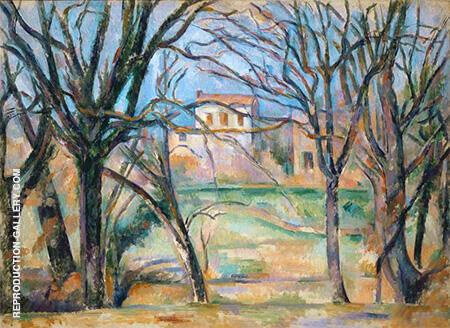 Path of Chestnut Trees in Jas de Buffan in the Winter 1885 By Paul Cezanne