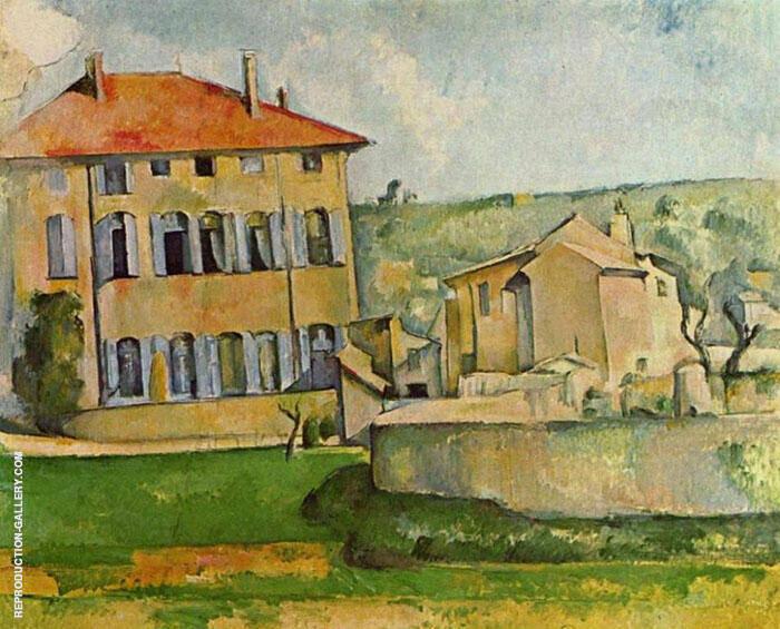 House and Farm in Jas de Bouffan Painting By Paul Cezanne