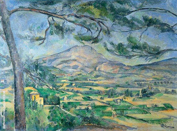 The Great Pine Mont Sainte Victoire 1885 Painting By Paul Cezanne