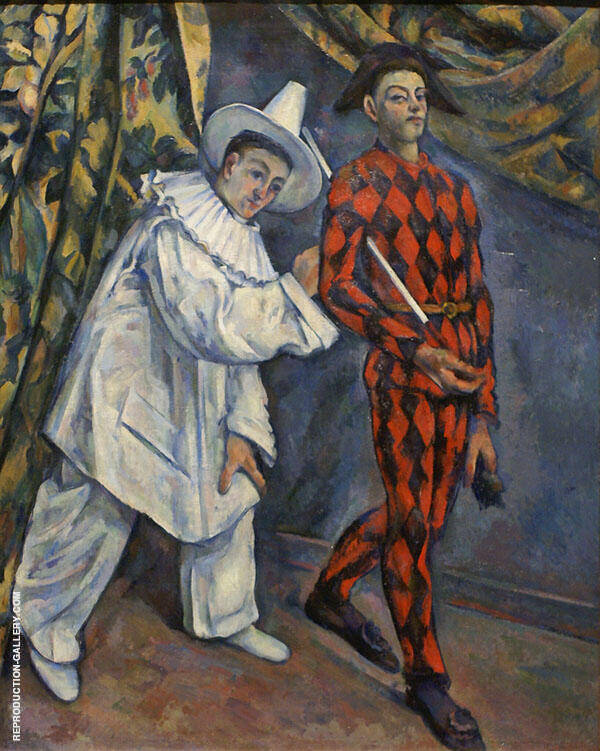 Mardi Gras (Pierrot and Harlequin) 1888 Painting By Paul Cezanne