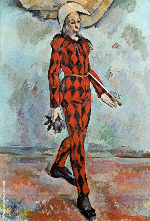 Harlequin 1889 By Paul Cezanne