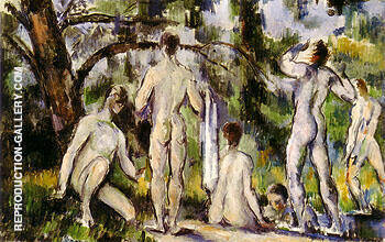 Bathers Study 1890 Painting By Paul Cezanne - Reproduction Gallery