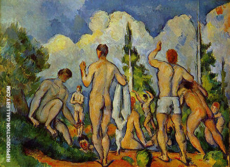 Bathers c1895 By Paul Cezanne - Oil Paintings & Art Reproductions - Reproduction Gallery