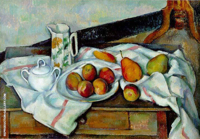 Peaches and Pears Painting By Paul Cezanne - Reproduction Gallery