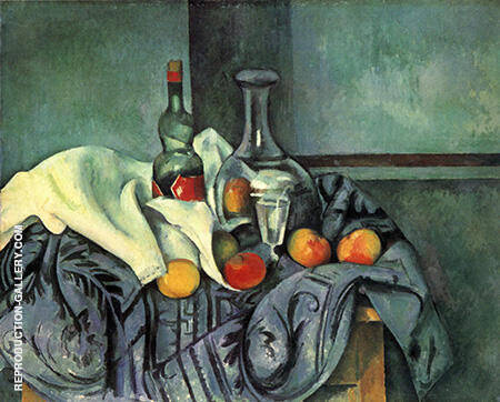 A Bottle of Peppermint 1890 By Paul Cezanne Replica Paintings on Canvas - Reproduction Gallery
