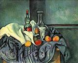 A Bottle of Peppermint 1890 By Paul Cezanne