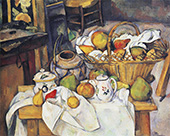 Still Life with Basket By Paul Cezanne
