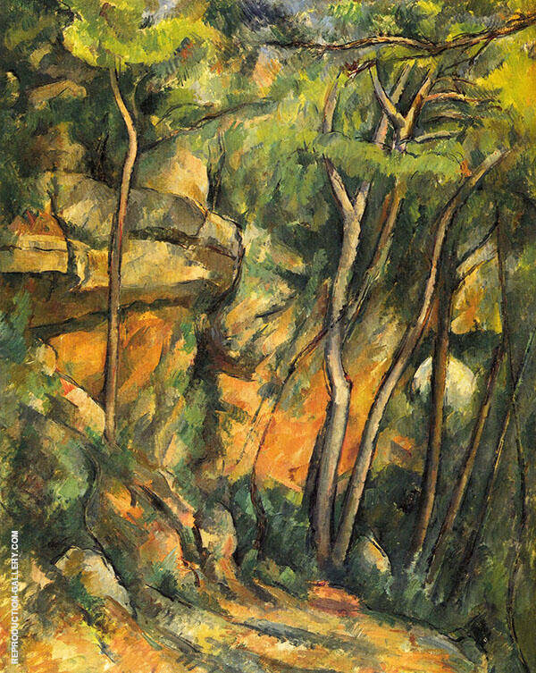 In the Park of the Chateau Noir 1900 Painting By Paul Cezanne