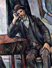 Man Smoking a Pipe By Paul Cezanne