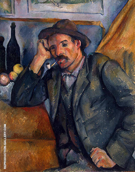 The Smoker 1895 By Paul Cezanne Replica Paintings on Canvas - Reproduction Gallery