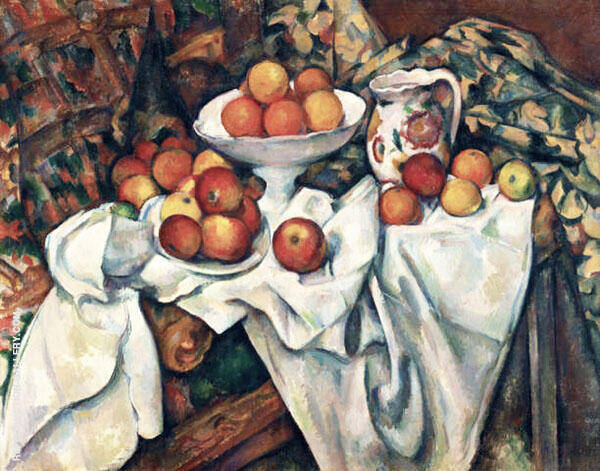 Still Life with Apples and Oranges 1895 By Paul Cezanne