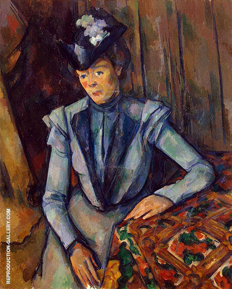 Woman in Blue c1902 By Paul Cezanne - Oil Paintings & Art Reproductions - Reproduction Gallery