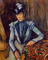 Woman in Blue c1902 By Paul Cezanne