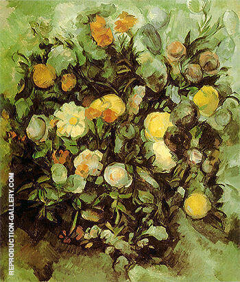 Flowers 1900 Painting By Paul Cezanne - Reproduction Gallery