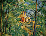 View of the Chateau Noir 1894 By Paul Cezanne