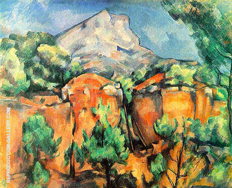 Mont Sainte Victoire View from Bibemus 1897 By Paul Cezanne Replica Paintings on Canvas - Reproduction Gallery