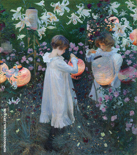 Carnation Lily, Lily Rose 1885 By John Singer Sargent Replica Paintings on Canvas - Reproduction Gallery